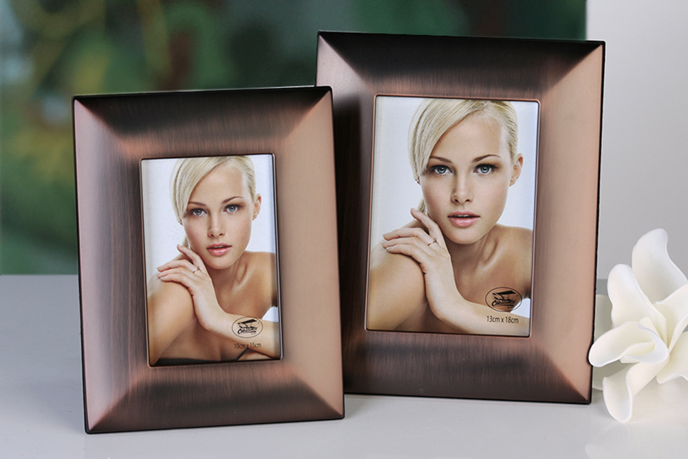 Rámeček na fotky kovový Java, 23x18 cm