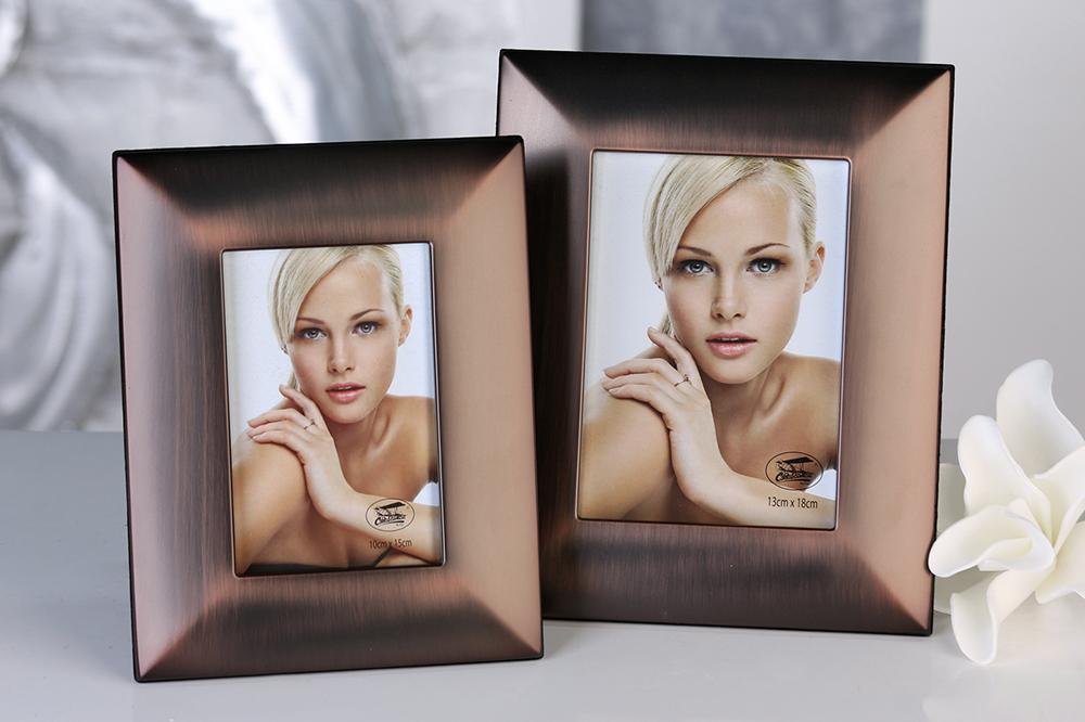 Rámeček na fotky kovový Java, 26x20 cm