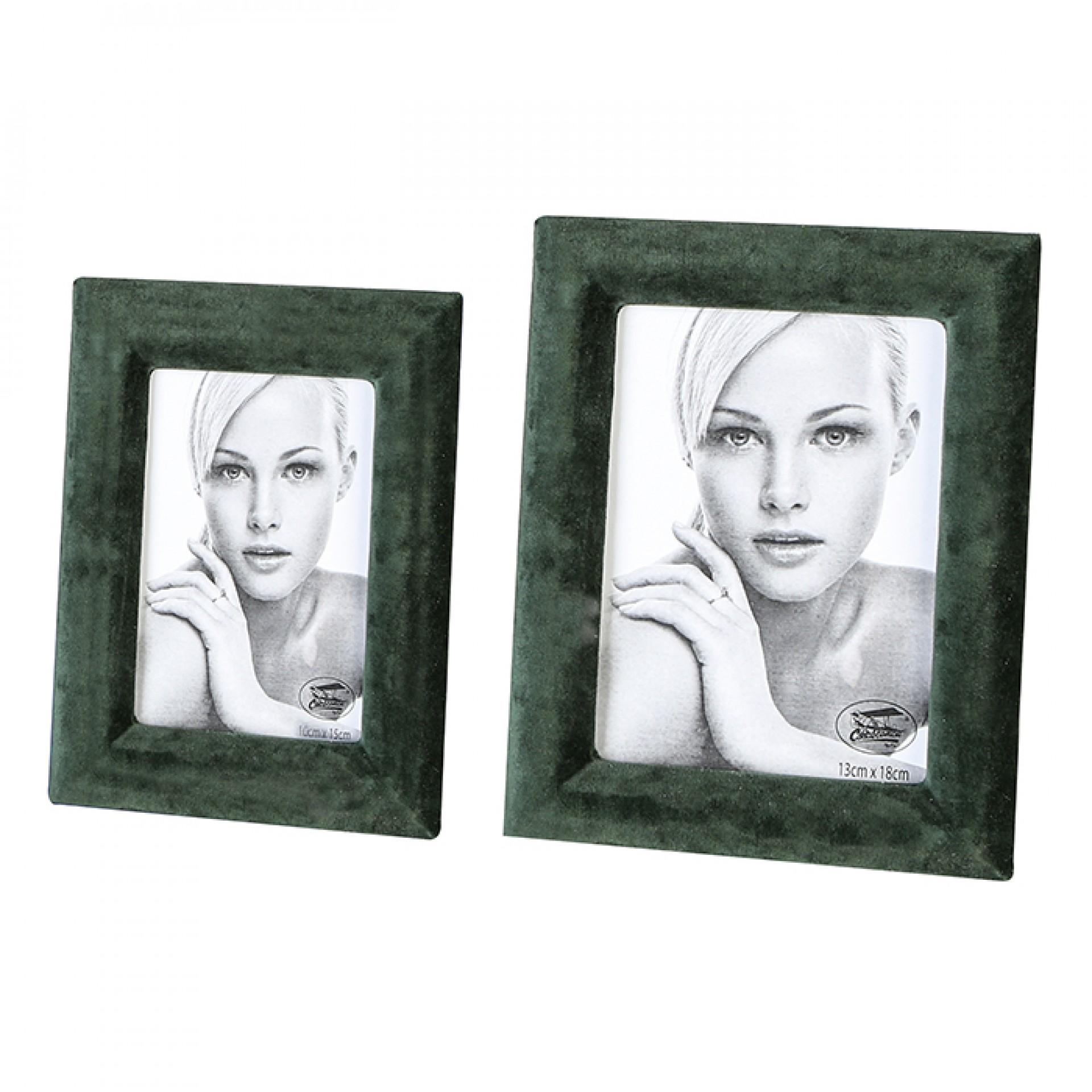 Rámeček na fotky Royal, 20x15,5 cm, zelený samet