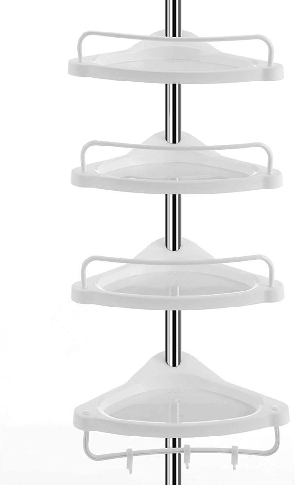 Regál Domi, 300 cm, bílá / stříbrná