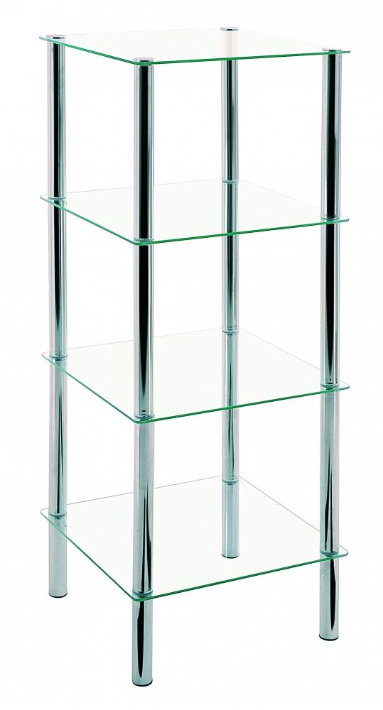 Regál Jade, 107 cm, chrom