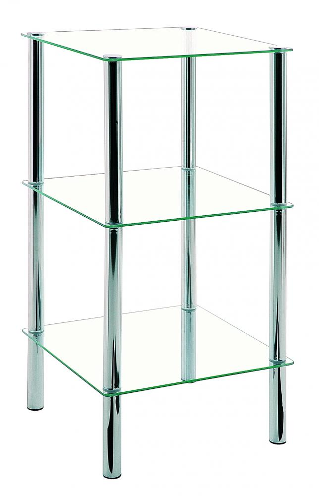 Regál Jade I., 77 cm, chrom
