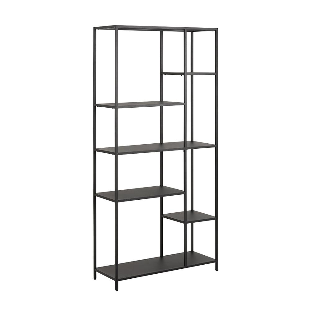 Regál / knihovna Lyfte, 165 cm, černá