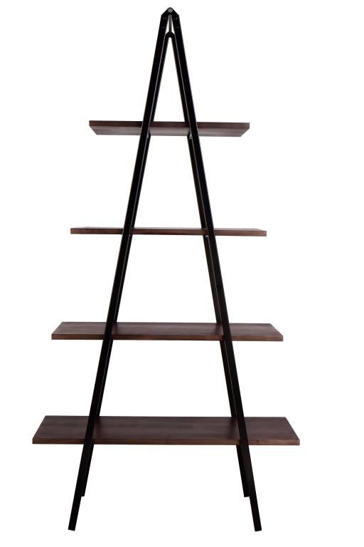 Regál poschoďový Spiky, 180 cm, černá