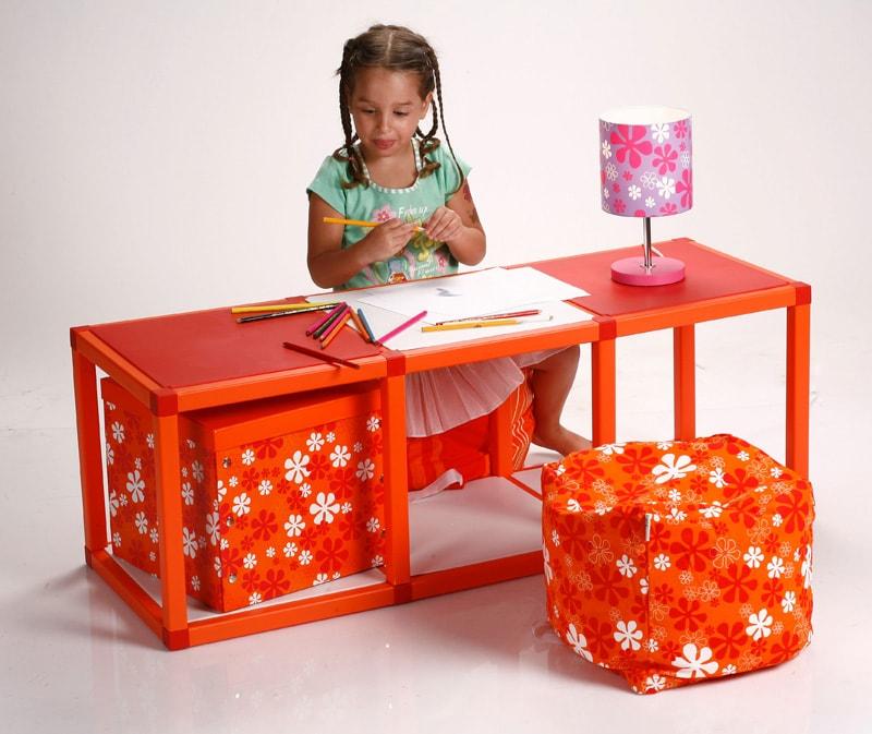 Regál pro děti MODlife 4 oranžová