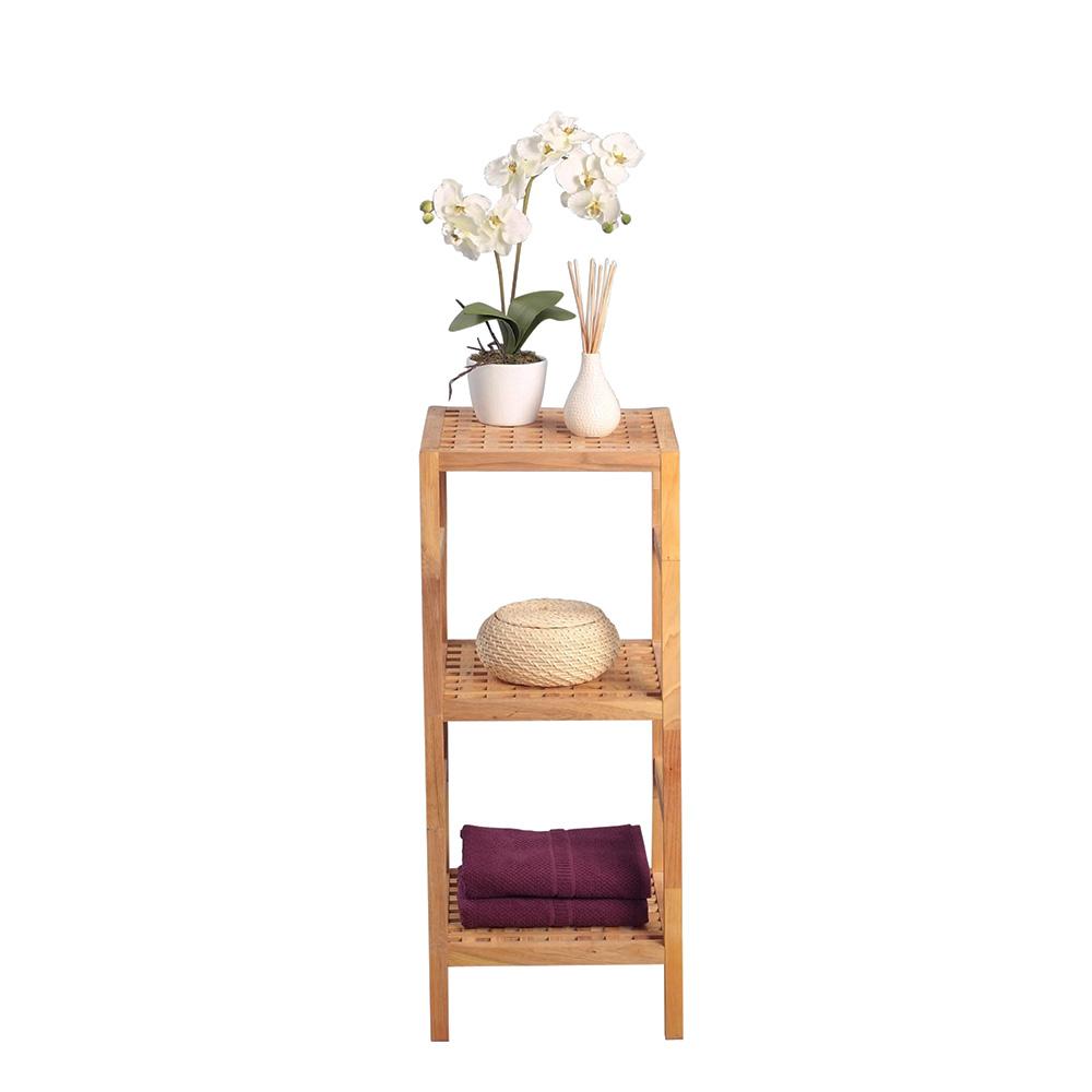Regál s 3 policemi Palmo, 85 cm, masiv ořech