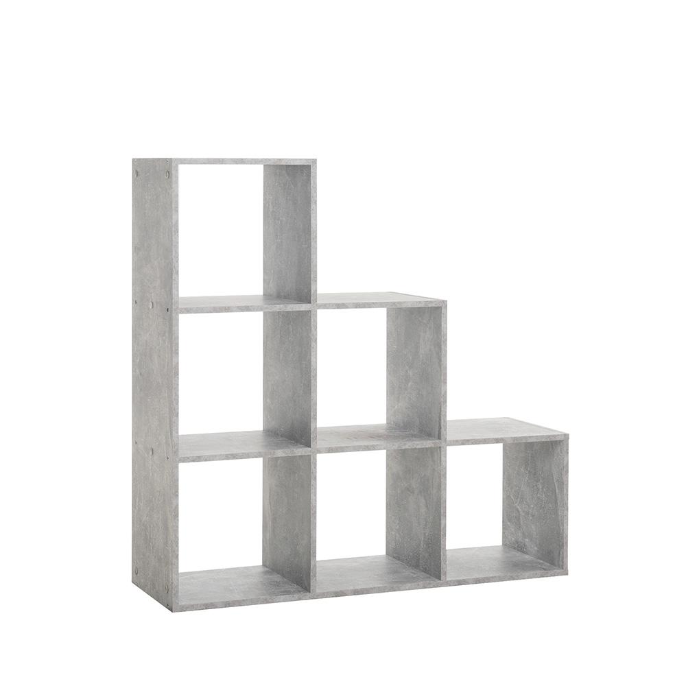 Regál s 6 úložnými úrovněmi Dino, 105 cm, beton