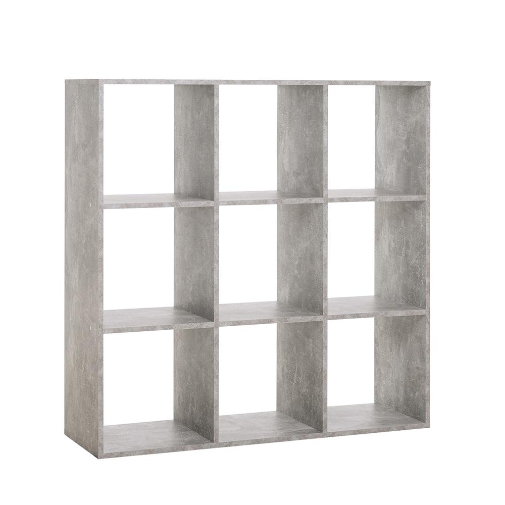 Regál s 9 policemi Lamar, 105 cm, beton