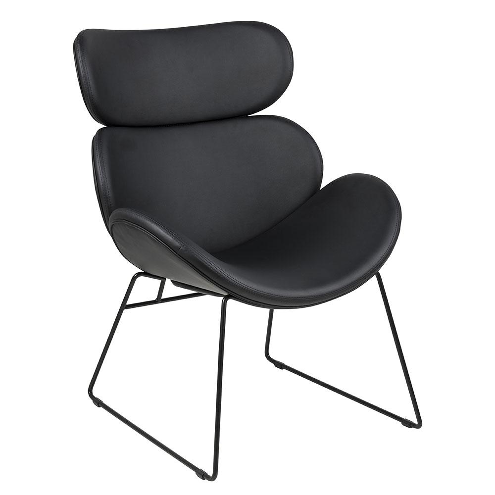 Relaxačné kreslo Cesar, čierna, čierna