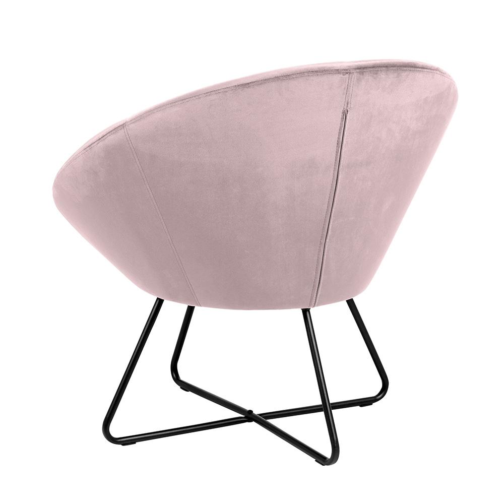 Relaxační křeslo Runde, růžová