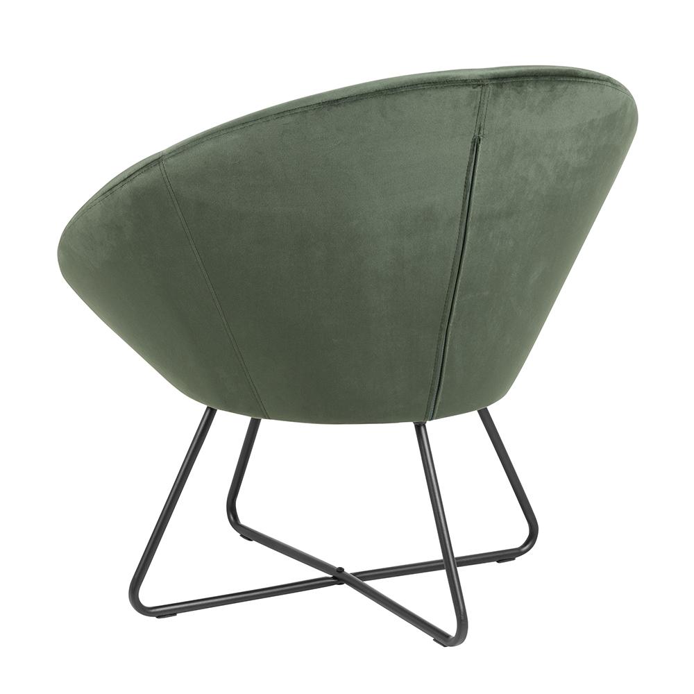 Relaxační křeslo Runde, zelená