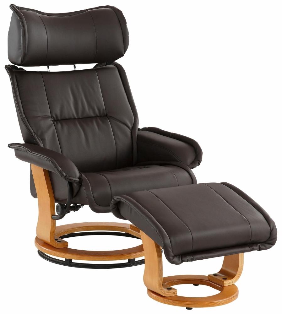 Relaxační křeslo s podnožkou Ando, černá