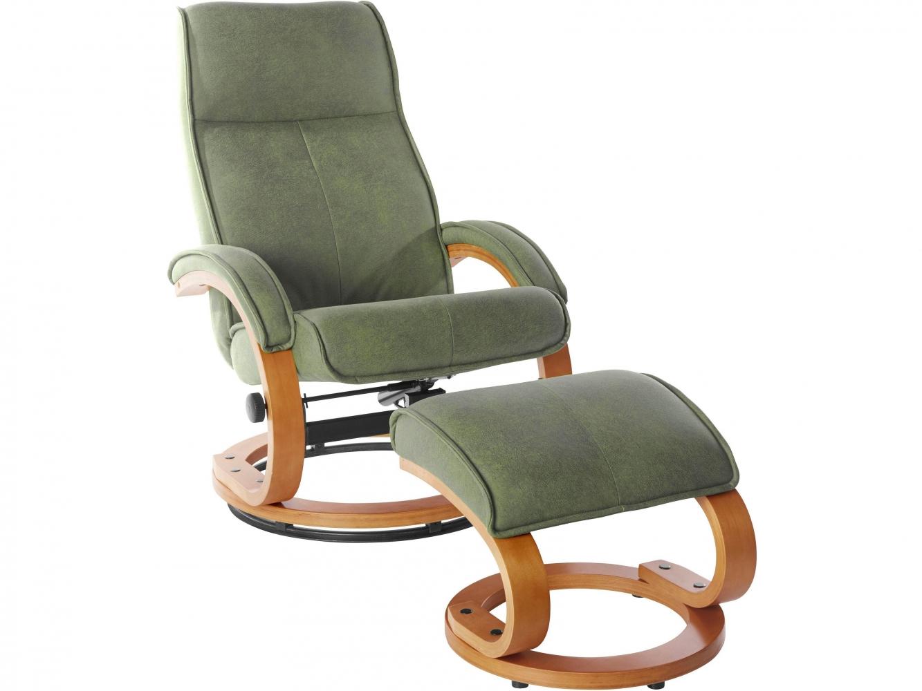 Relaxační křeslo s podnožkou Jeff, zelená
