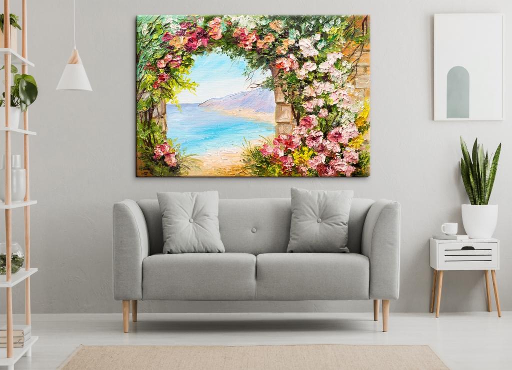 Reprodukce obrazu Květinová brána, 150x100 cm