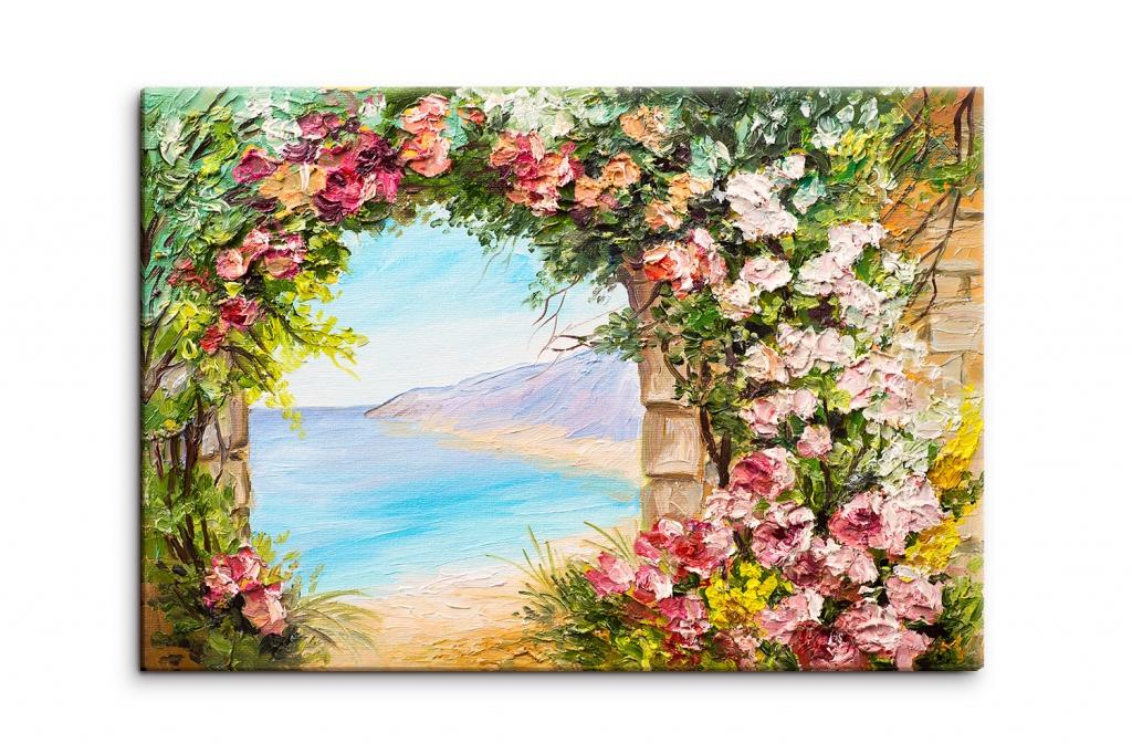 Reprodukce obrazu Květinová brána, 90x60 cm