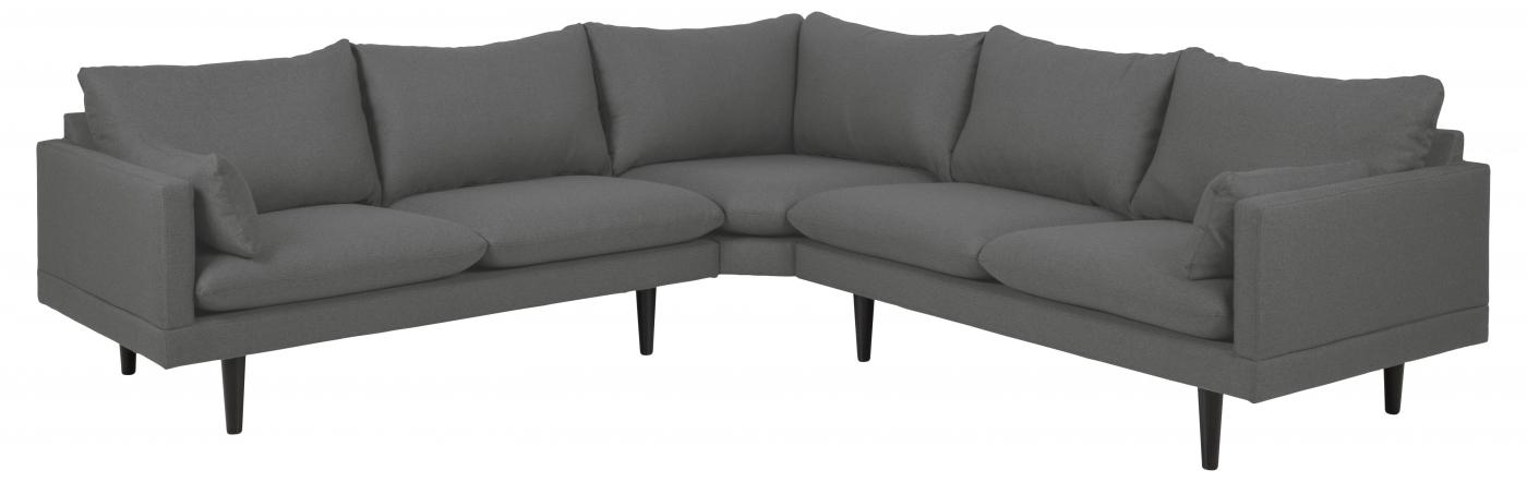 Rohová pohovka pravá Sylva, 255 cm, šedá