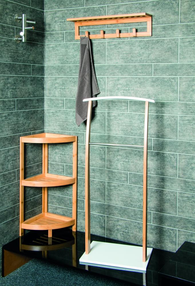Rohový regál Willis, 76 cm, bambus