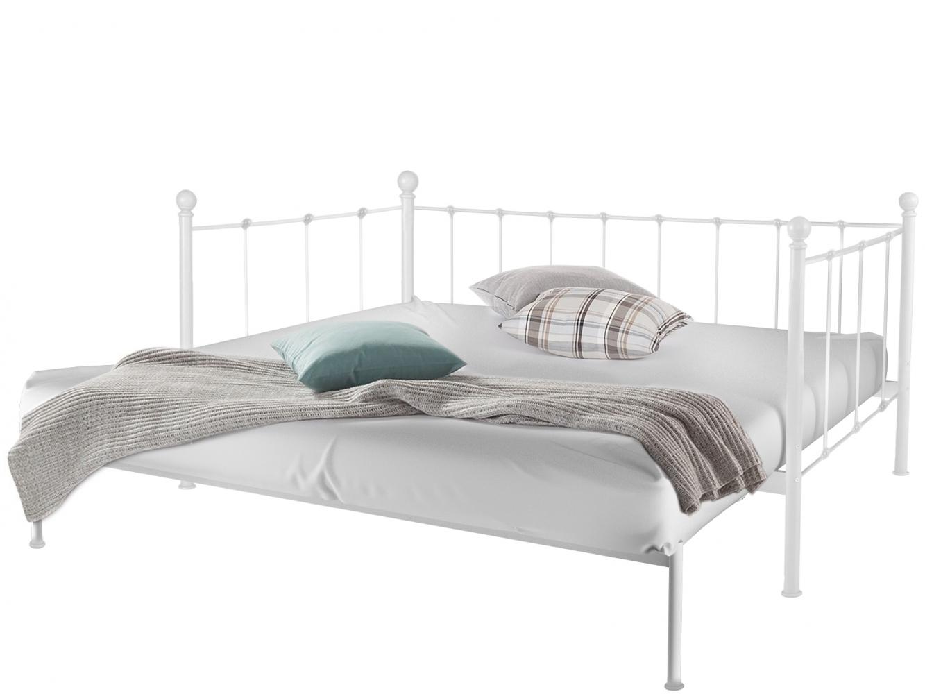 Rozkládací postel Markur, 90-180 cm, bílá