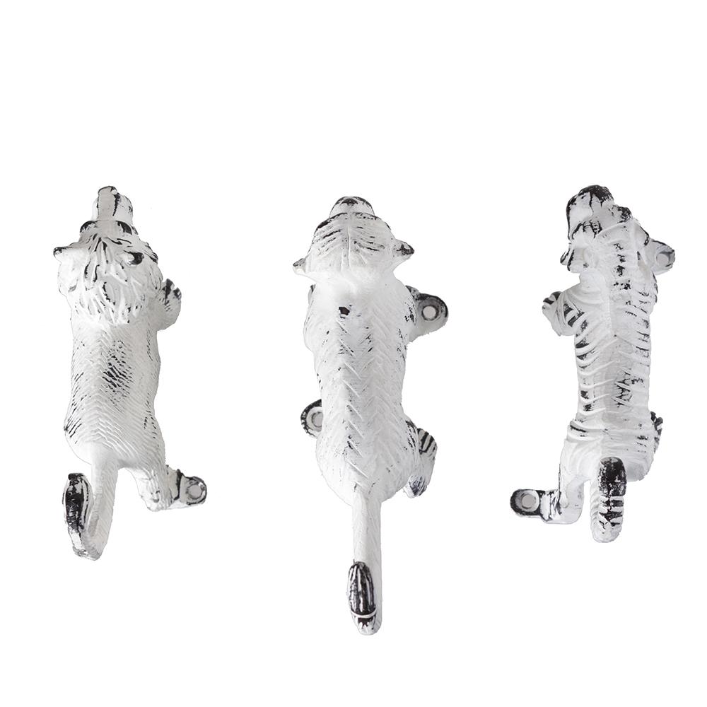 Sada 3 háčků Safari, bílá