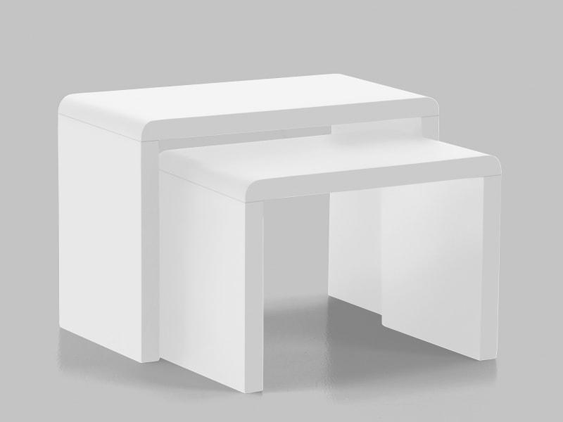 Sada konferenčných stolíkov Daisy, 2 ks, biela