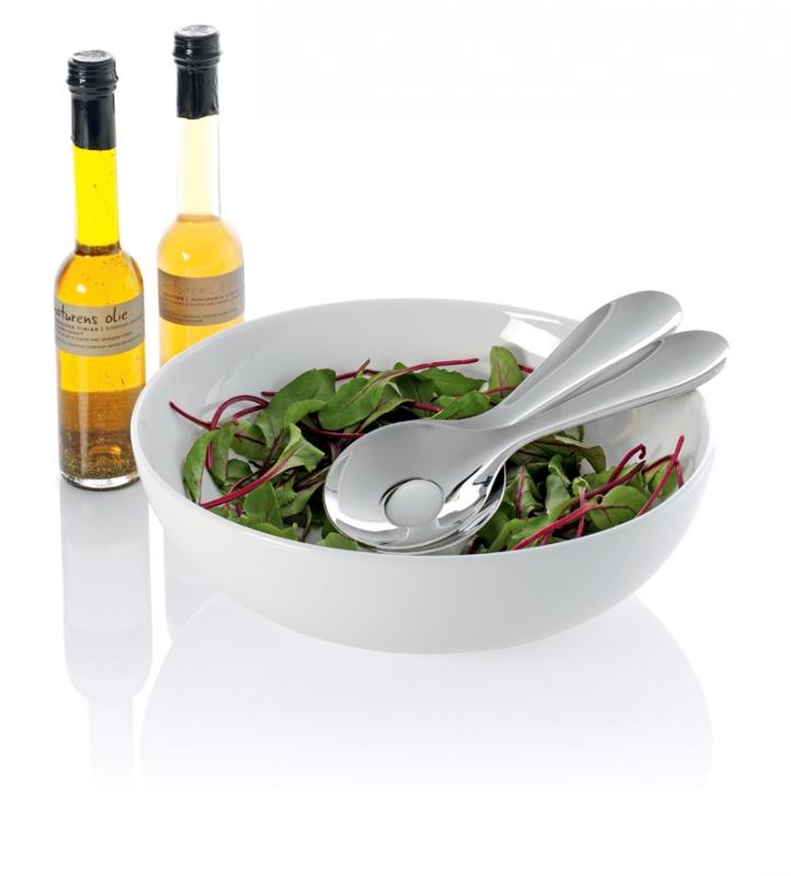 Salátová mísa 300 mm vč. nerezových lžic
