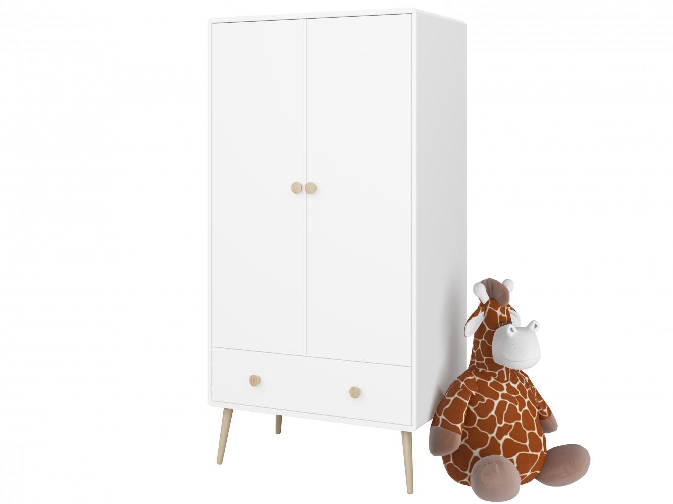 Šatní skříň Adel, 159 cm, bílá