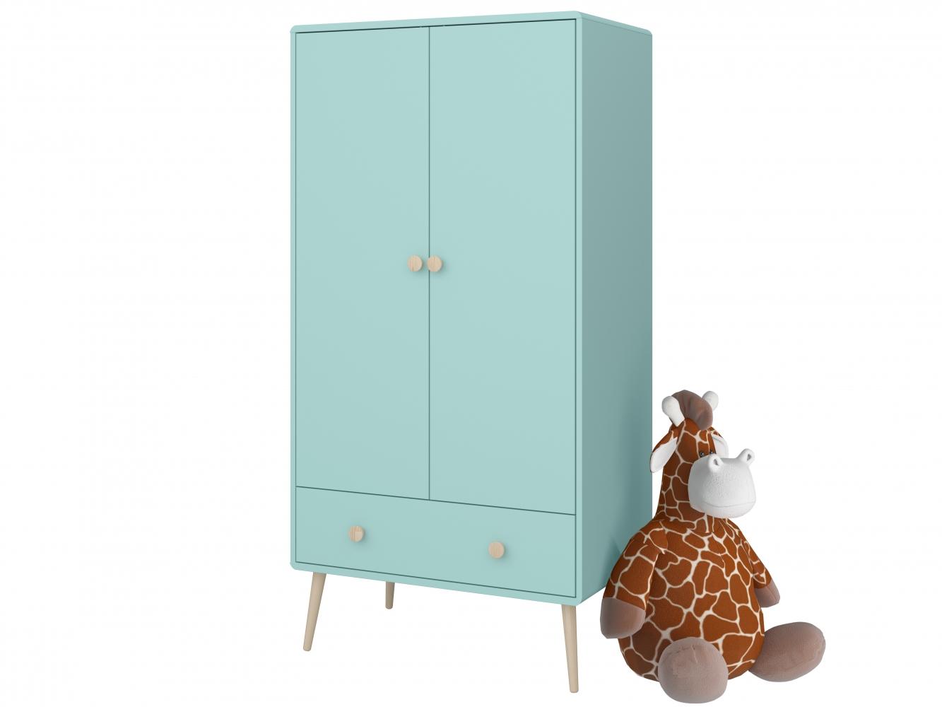 Šatní skříň Adel, 159 cm, tyrkysová