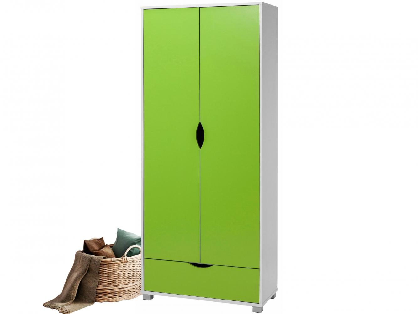 Šatní skříň Elson, 180 cm, zelená