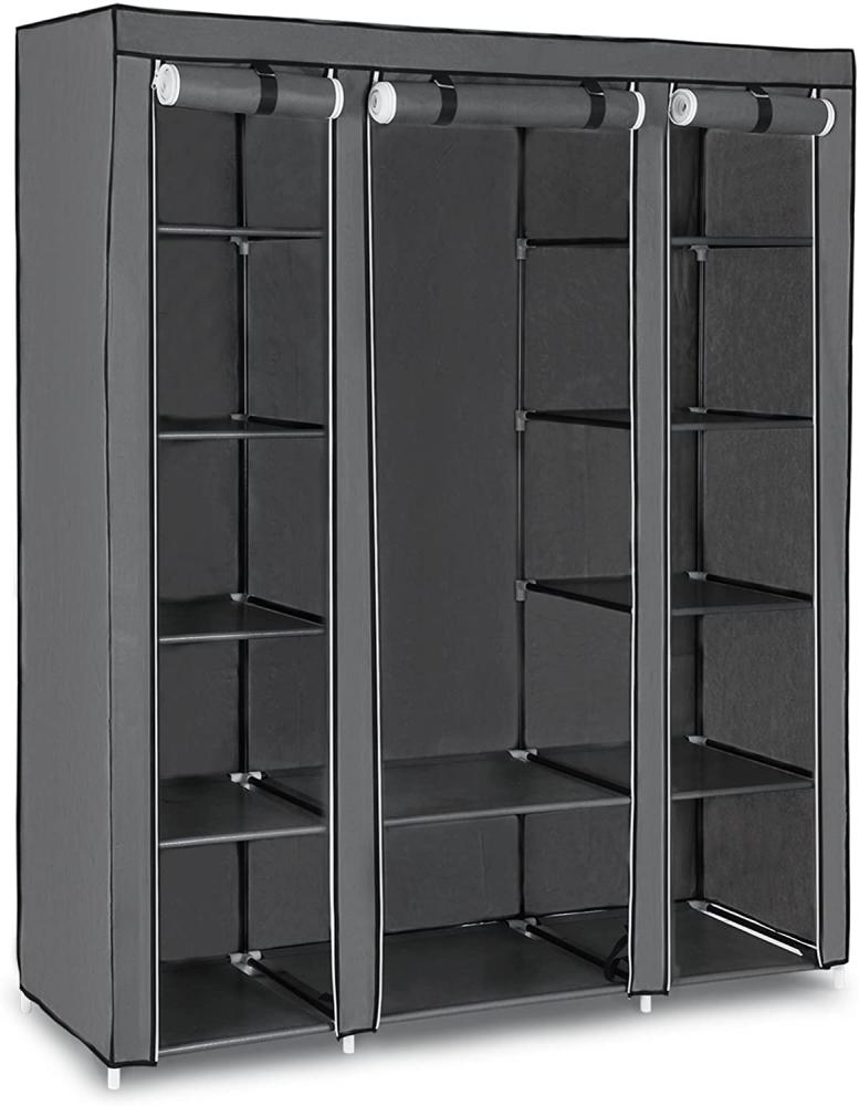 Šatní skřín Helebrant, 175 cm, šedá