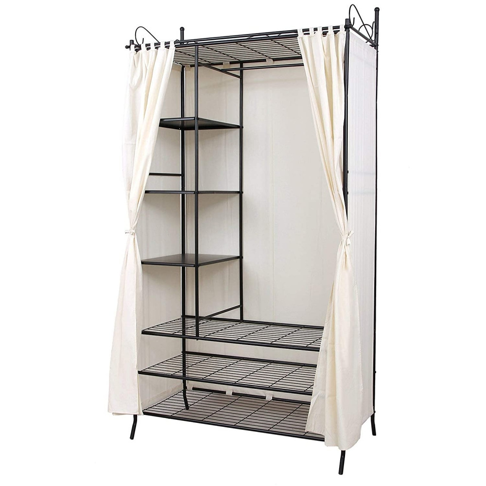 Šatní skříň Heriet,  210 cm, černá