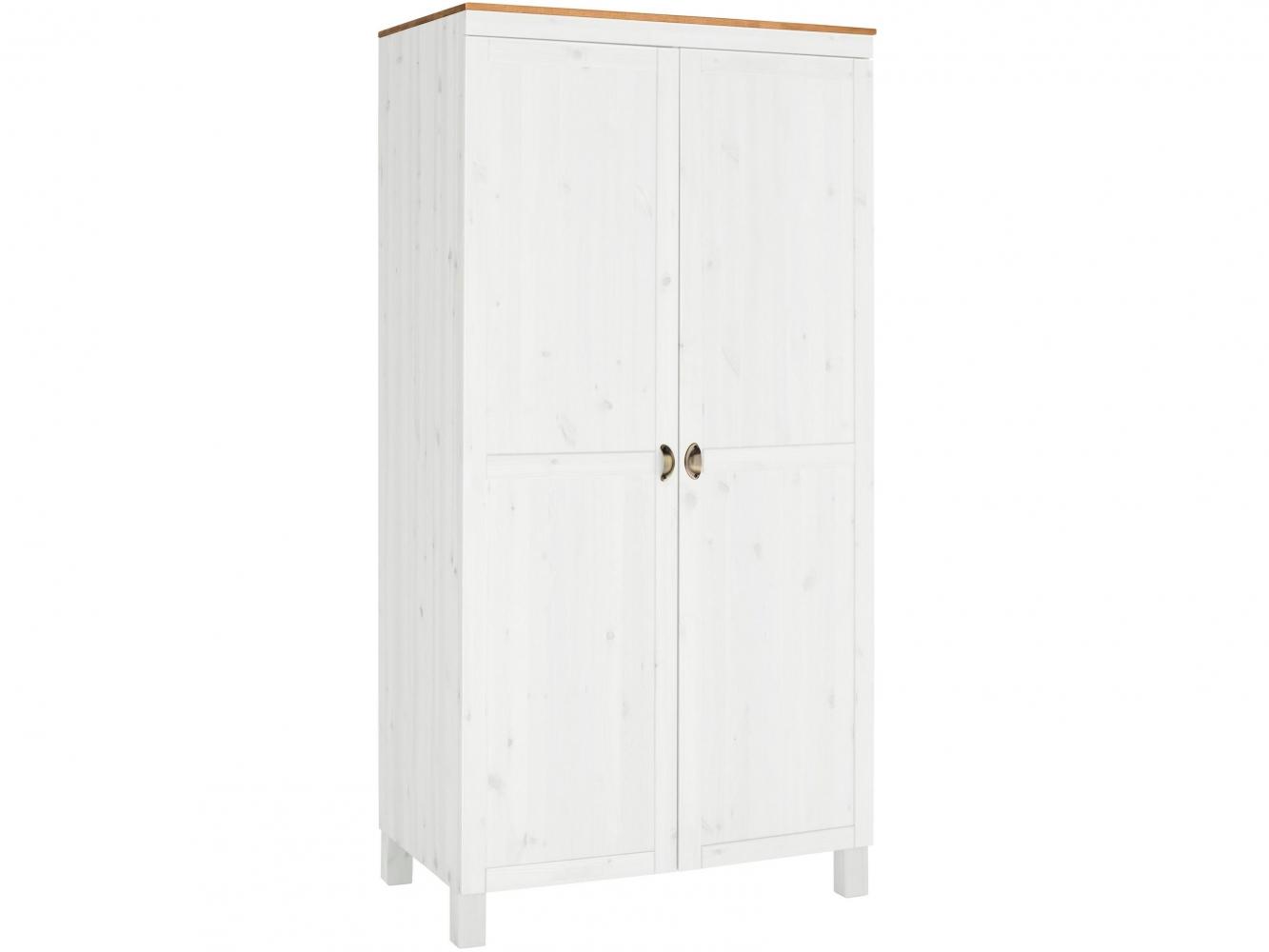 Šatní skříň Onea I., 205 cm, borovice / bílá