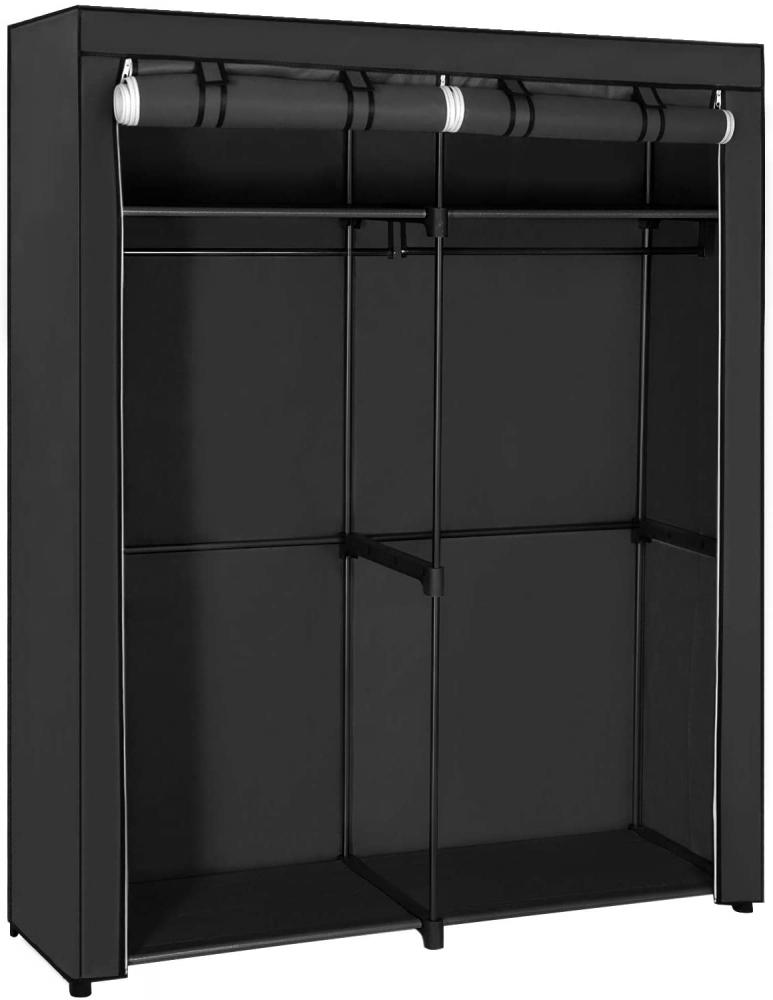 Šatní textilní skříň Berry, 174 cm, černá