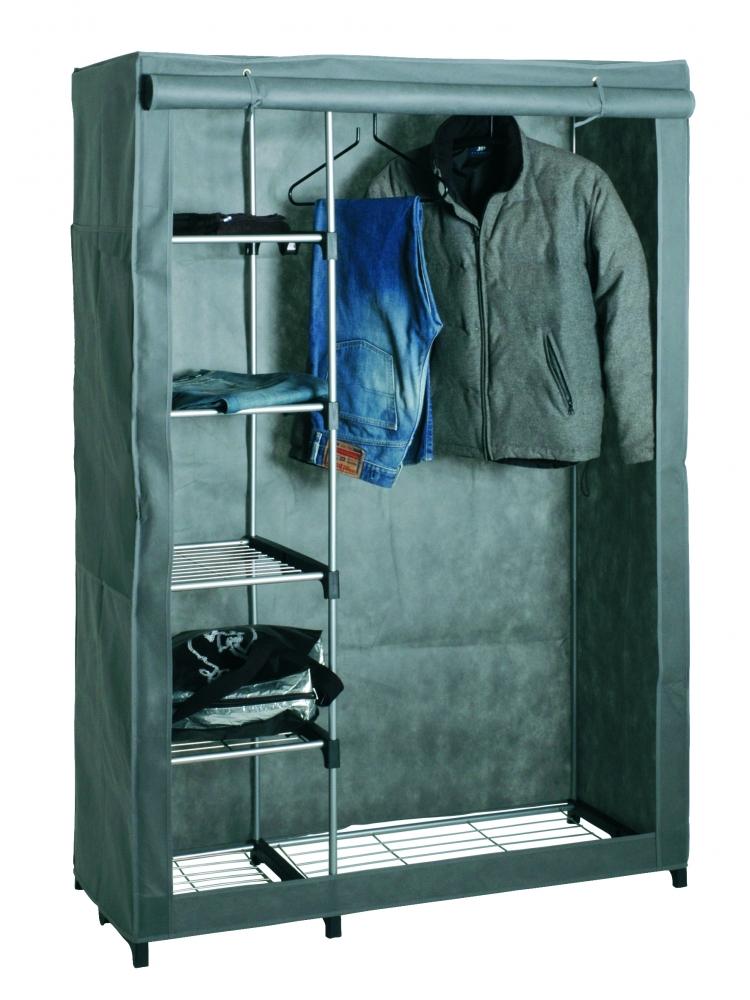 Šatní textilní skříň Emery, 173 cm