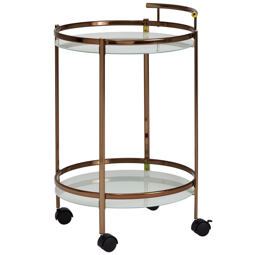 Servírovací stolek Hariet, 80 cm, zlatá