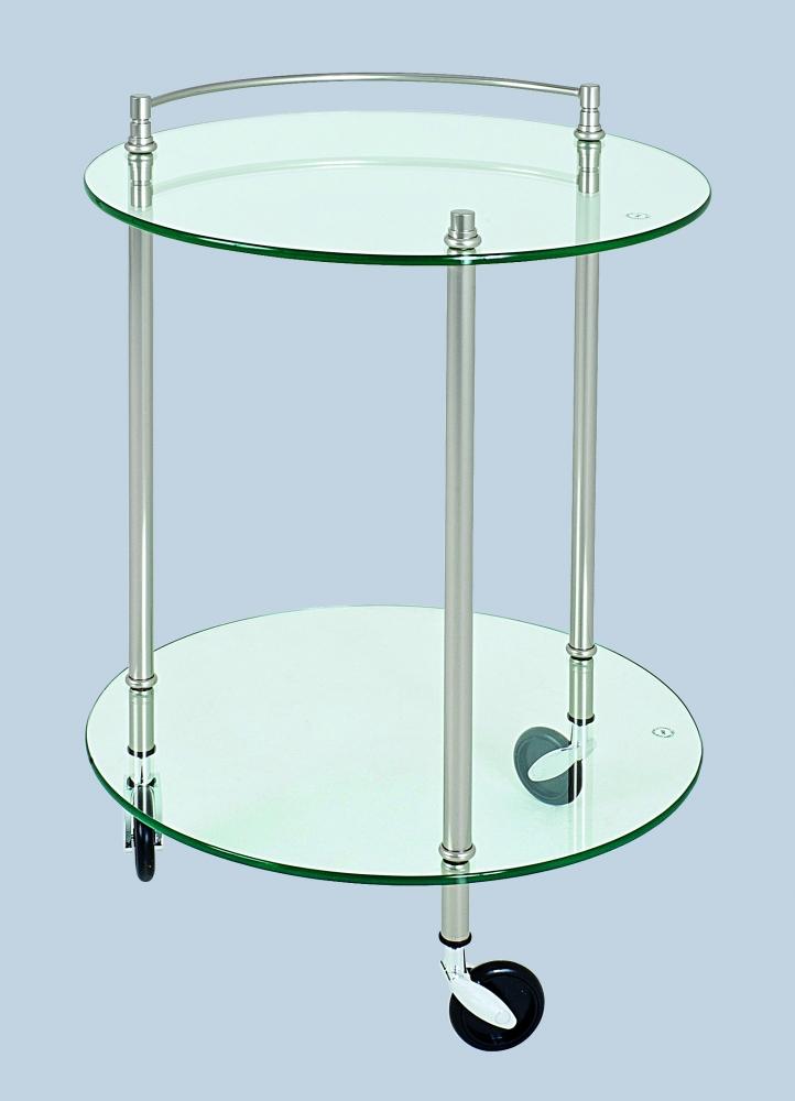 Servírovací stolek Jitte, 63 cm, stříbrná