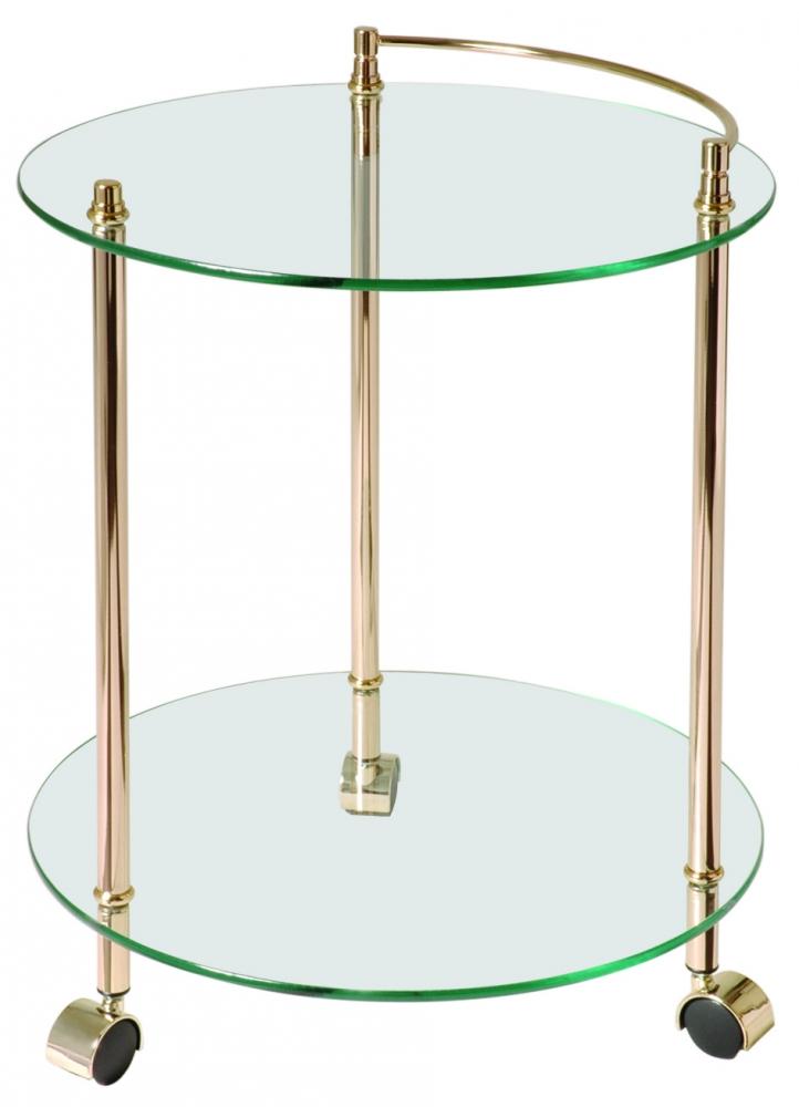 Servírovací stolek Lydia, 60 cm, zlatá