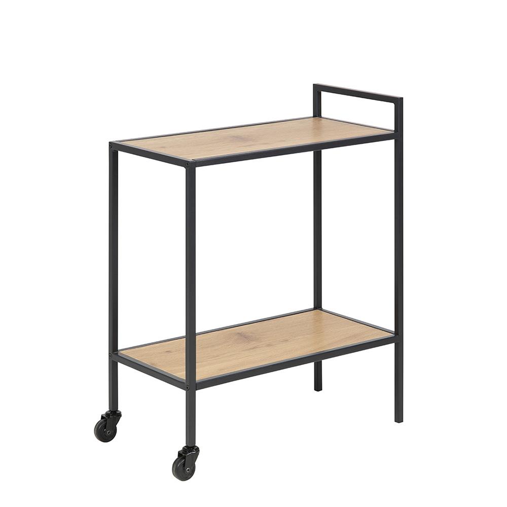 Servírovací stolek Seashell, 75 cm, dub