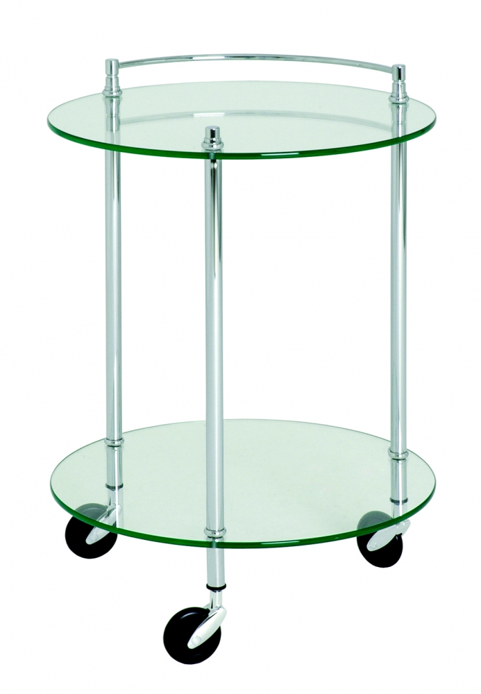 Servírovací stolek Stein, 63 cm, stříbrná