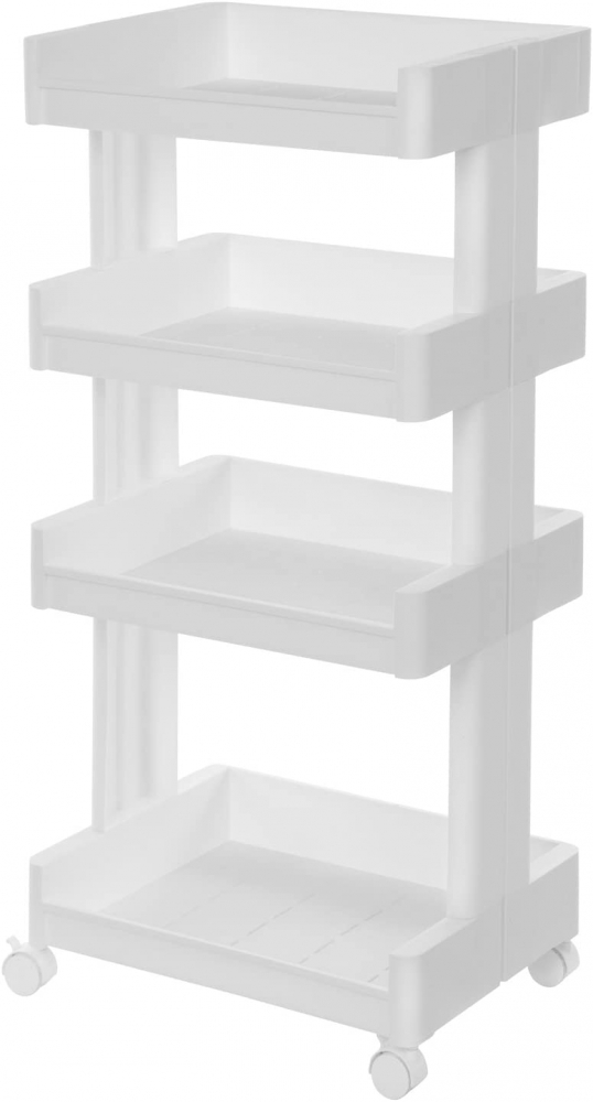 Servírovací vozík Sammie, 93 cm, bílá
