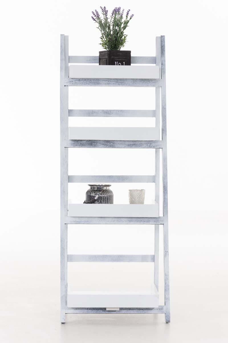 Skládací poschoďový regál Dorian, 111 cm, bílá/šedá