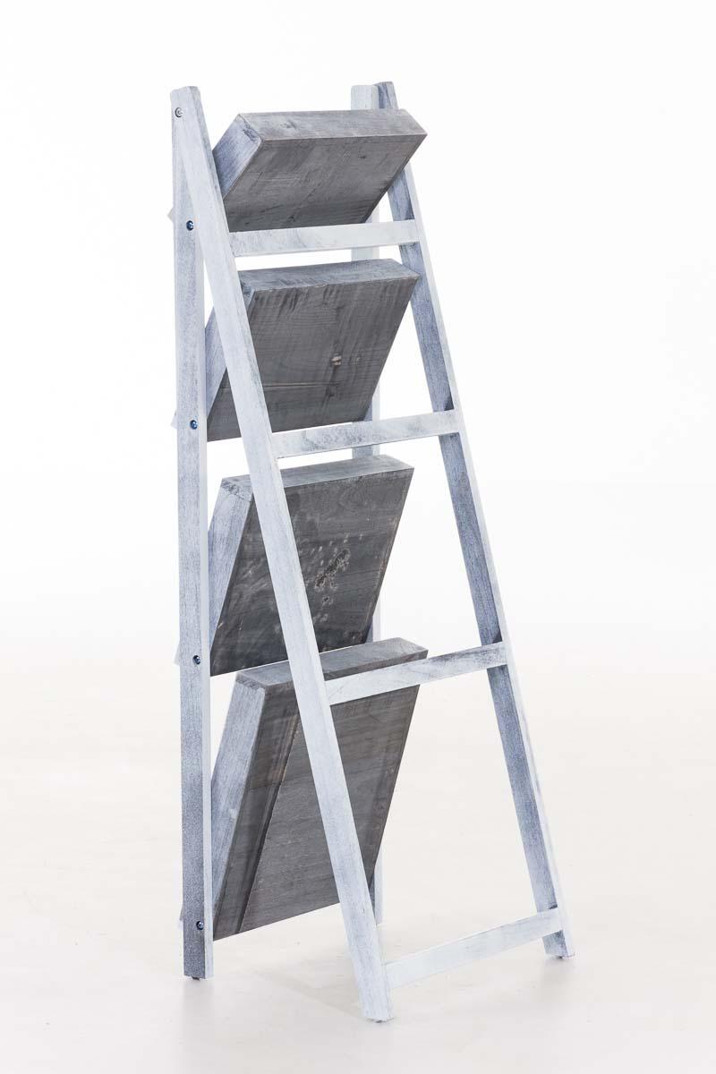 Skládací poschoďový regál Dorian, 111 cm, šedá