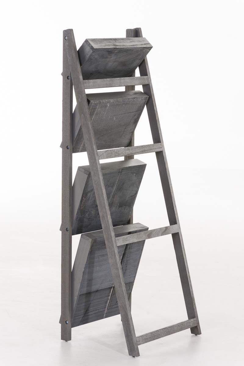 Skládací poschoďový regál Dorian, 111 cm, tmavě hnědá