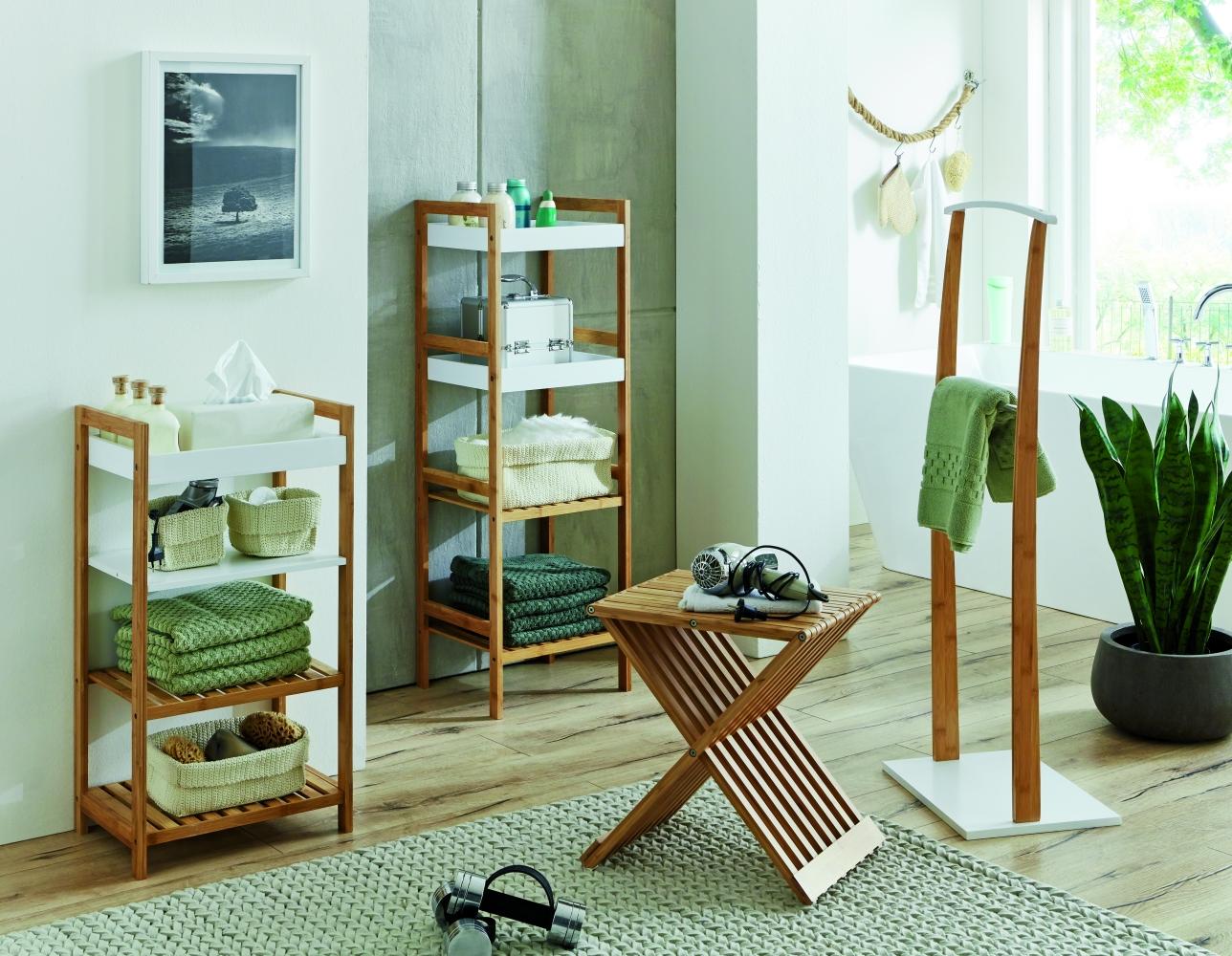 Skládací stolek Cliff, 44 cm, bambus