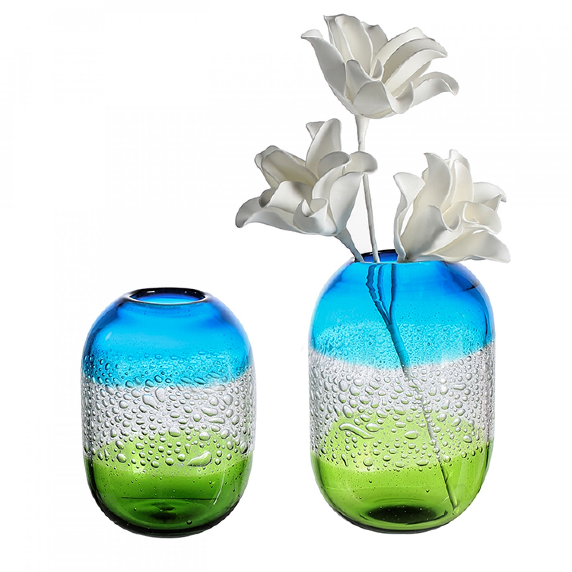 Skleněná váza Sierra, 21 cm