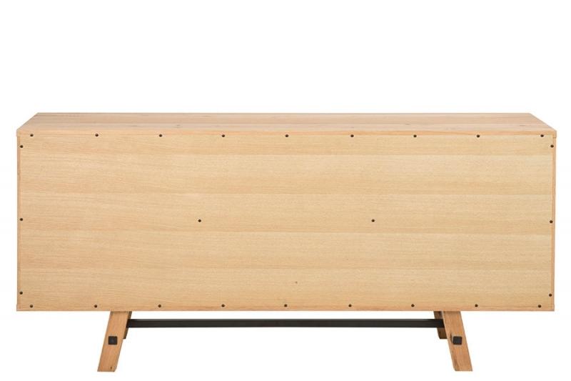 Skříň s 2 dveřmi a 3 zásuvkami Kiruna, 180 cm