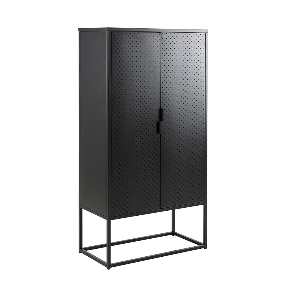 Skříň s dveřmi Lyfte, 150 cm, černá