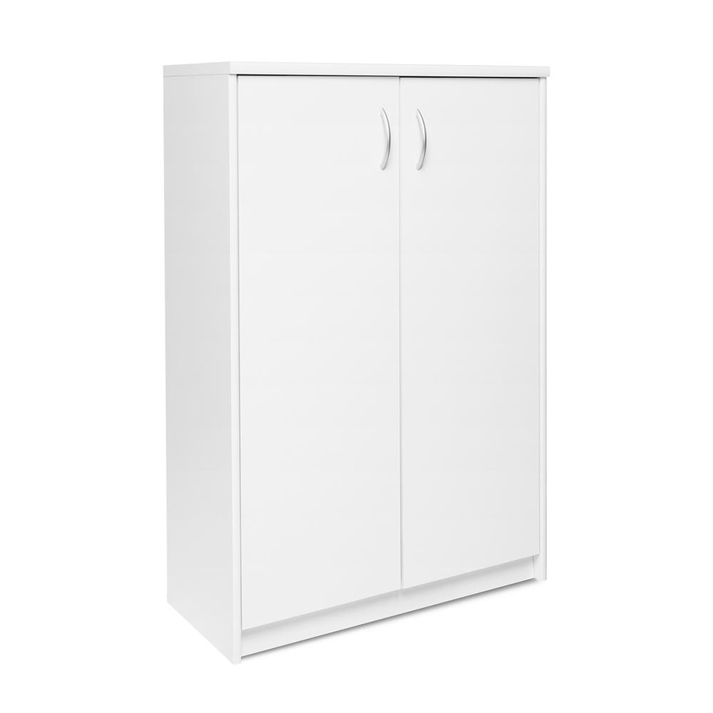Skříň s dvoukřídlými dveřmi Haven, 111 cm, bílá