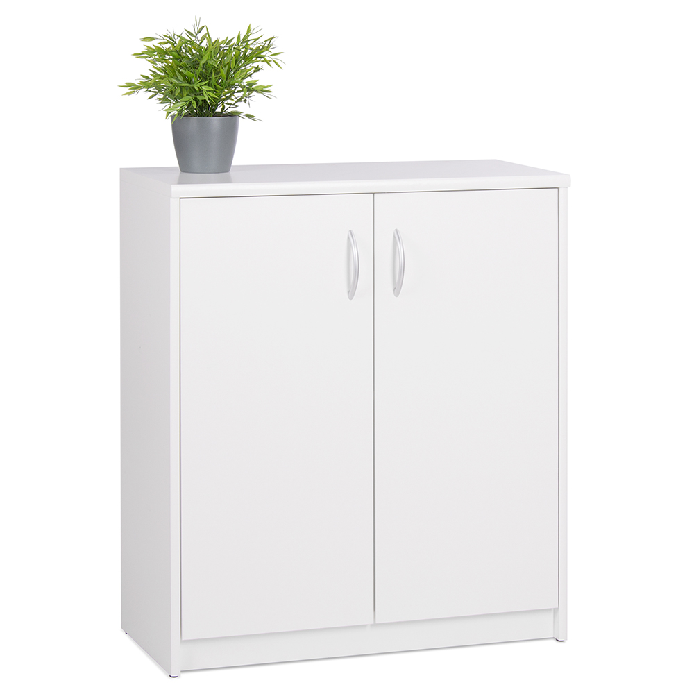 Skříň s dvoukřídlými dveřmi Haven, 85 cm, bílá