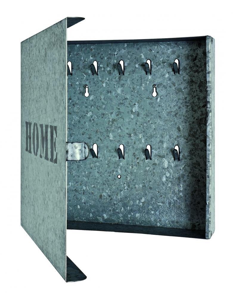 Skříňka na klíče Hame, 25 cm, šedá