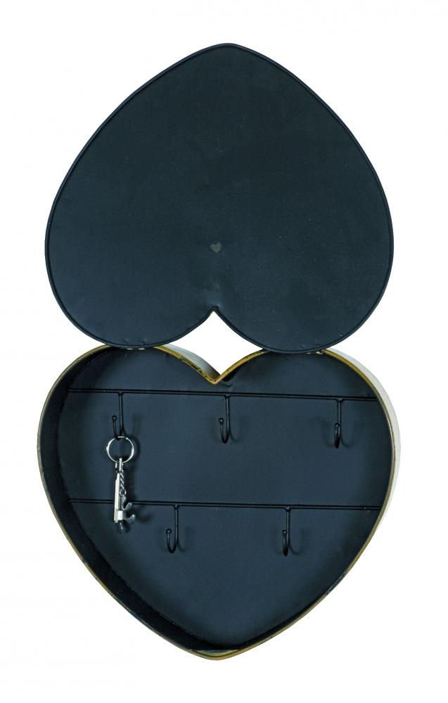 Skříňka na klíče Heda, 50 cm, žlutá
